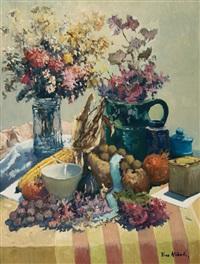 composizione con fiori e natura morta by dino aliberti