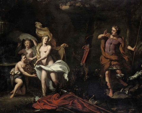 diana and her nymphs surprised by actaeon by gerard hoet the elder