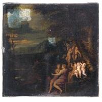 allegorische szene mit liebespaar und putten in einer landschaft by karel philips spierincks