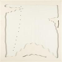 concetto speziale-teatrino (bianco) by lucio fontana