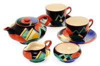 moon of the mountain tea set (7 pieces) by suzan (ph) cooper