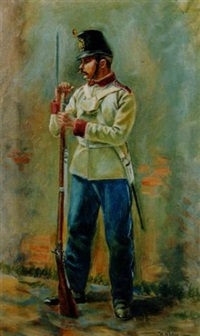 k.k. infanterist in der adjustierung 1861-1866 by hugo klein