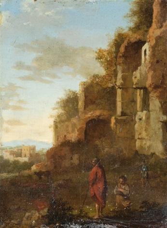 ruinenlandschaft mit hirten by cornelis van poelenburgh