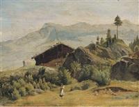 paesaggio montano con rifugio by maximillian de meuron