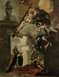 die verehrung der dreifaltigkeit durch den hl. clemens by giovanni battista tiepolo