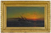 sunset at sea by david st. john