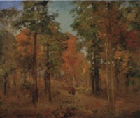walking through the hoosier forest by theodore clement steele