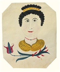 portrait of a woman with crown by sarah kriebel