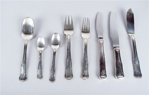 silberbesteck set of 66 by georg jensen co