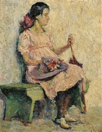 portrait of margaret lyle (1901-1973) by hugh henry breckenridge