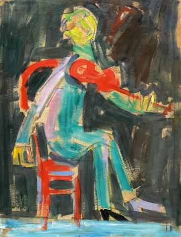 the fiddler by pinchas litvinovsky