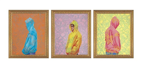 fools gold triptych by kehinde wiley