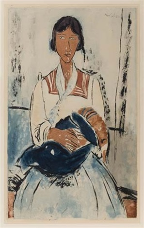 l'italienne (by jacques villon) by amedeo modigliani