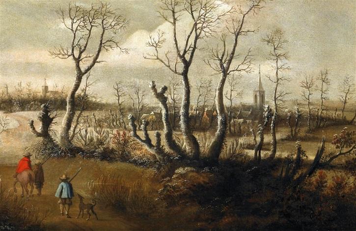 flämische winterlandschaft by daniel van heil