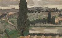 settignano landscape by derek hill