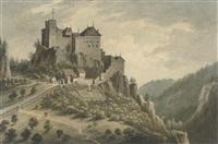 a monastery on a mountainside by john warwick smith