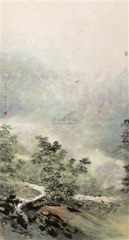 morning mist by liang zhongli