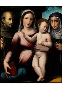 madonna mit kind, heiligem franziskus und der heiligen katharina von siena by giacomo francia
