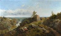 birk crags, harrogate, with york minster in the distance by edmund john niemann