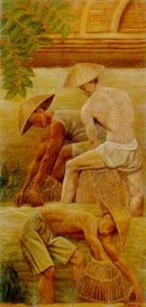 pêcheurs à la nasse by michel bouquet
