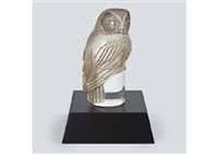 paper weight : chouette by rené lalique