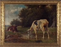 cow in a pasture by robert atkinson