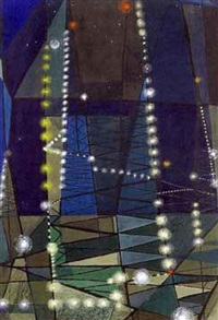 derricks at night by george grammer