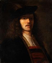 halbbildnis eines jungen mannes mit barett by ferdinand bol