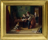 the artist and his family by thomas edward roberts