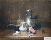 nature morte du bon vivant by charles monginot
