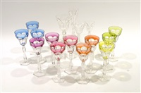 service de verres (set of 66) by val saint-lambert