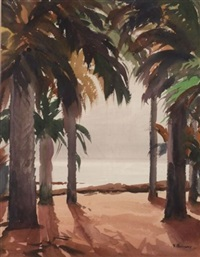 through the palm trees by vladimir pavlosky