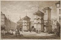 das isarthor in münchen by joseph resch