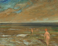nude bathers by august frederick lundberg