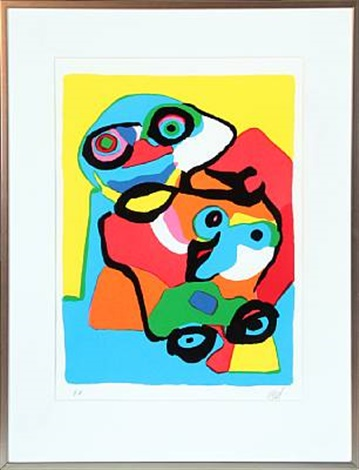 composition with figure by karel appel