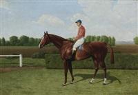 das rennpferd gondolat mit jockey by emil adam