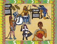 rock au féminin by robert combas