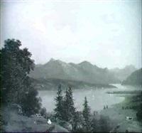 schweizer gebirgssee by johann theodor goldstein
