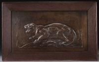 panther at bay by edward kemeys