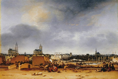 a view of delft after the explosion of 1654 by egbert lievensz van der poel