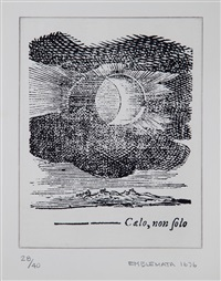 emblemata 1636 (+ penzance eclipse, photo engraving; 2 works) by james turrell