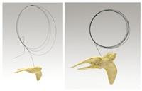 plaster bird (2 works) by brandt junceau