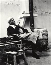 der künstler im atelier (ossip zadkine) by bert van bork