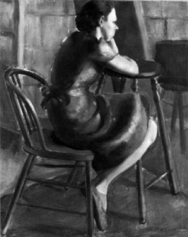 portrait of a seated woman by mary lewis ayer