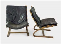 cantilevered lounge chairs (pair) by ingmar anton relling