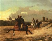 cavaliers près du caire by lieutenant long