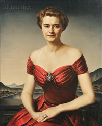 jeannette horlick-bowles, wife of john bowles, greenwich, connecticut by gerald leslie brockhurst