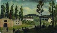 paysage avec des promeneurs by henri rousseau