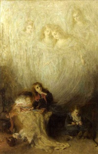 mother's voice or eve is the time for prayer by john brown abercromby