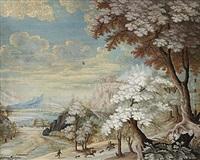 landskap med jaktsällskap by johanne marie (mme. westengaard) fosie